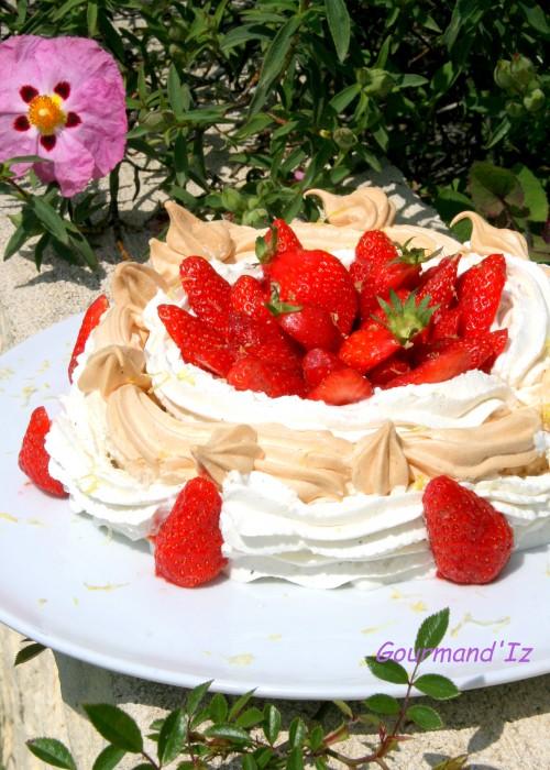 pavlova, recette de pavlova, pavlova aux fraises