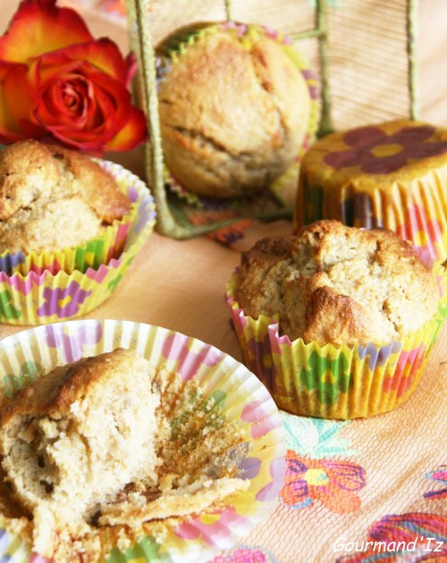 Muffins ig bas, recette muffins, pommes sechées