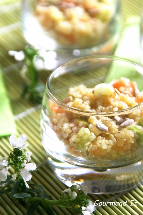 salade de quinoa, verrine quinoa, avocat, fenouil, pamplemousse