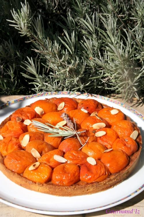 tarte abricots lavande amandes
