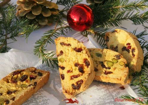 biscottis, recette de biscotti, pistaches, canneberges